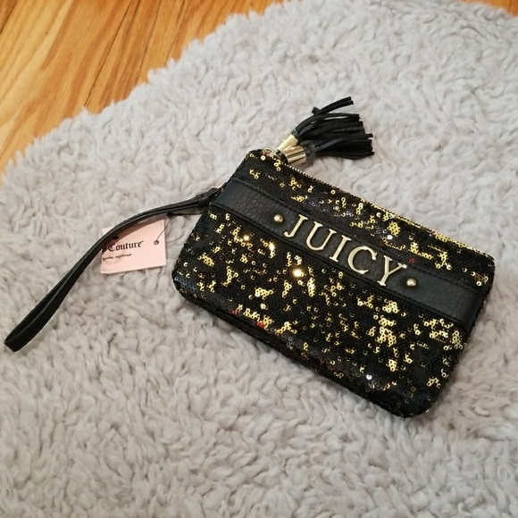 05b30b2186a Juicy Couture Bags   Nwt Black Gold Sequin Clutch   Poshmark